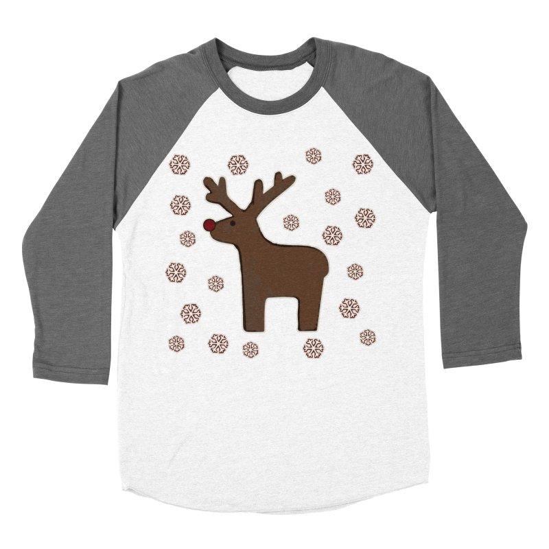 Christmas deer! Men's Baseball Triblend T-Shirt by gasponce