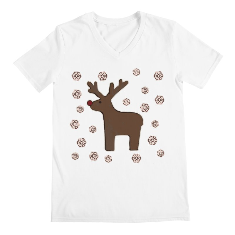 Christmas deer! Men's V-Neck by gasponce