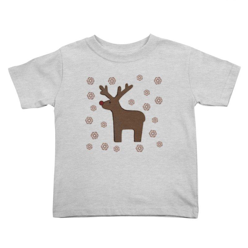 Christmas deer! Kids Toddler T-Shirt by gasponce
