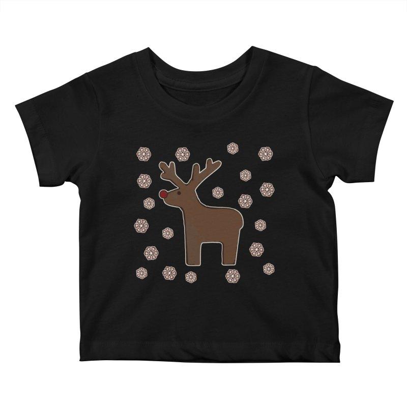 Christmas deer! Kids Baby T-Shirt by gasponce