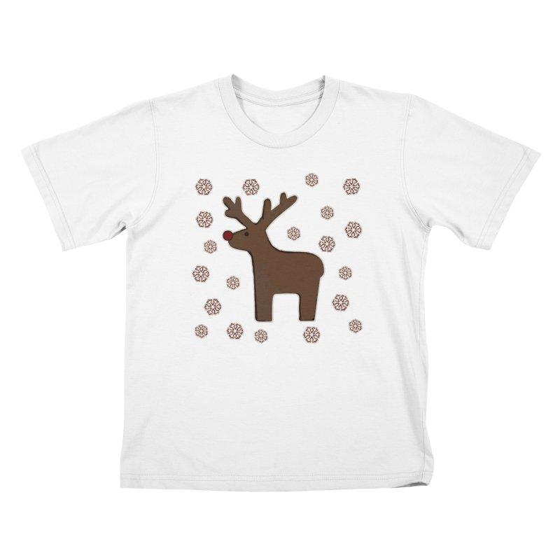 Christmas deer! Kids T-Shirt by gasponce