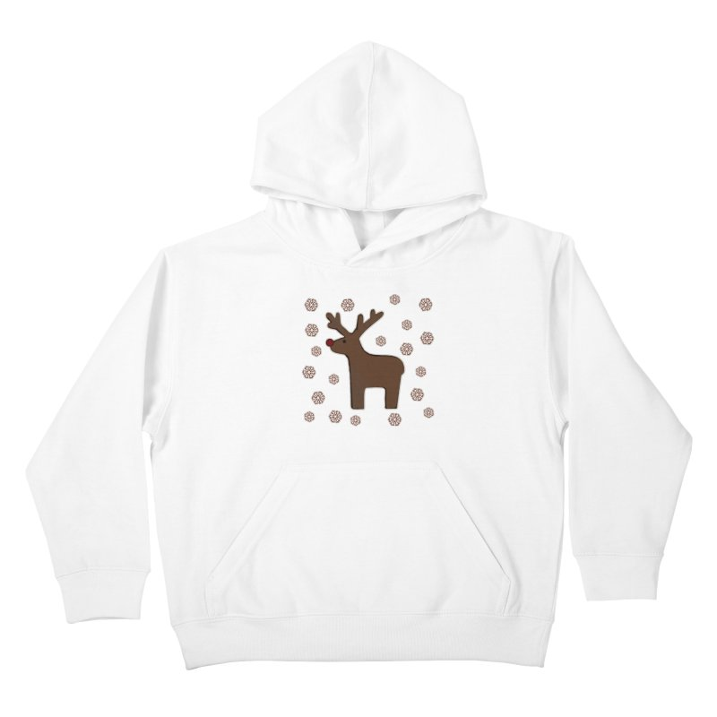 Christmas deer! Kids Pullover Hoody by gasponce