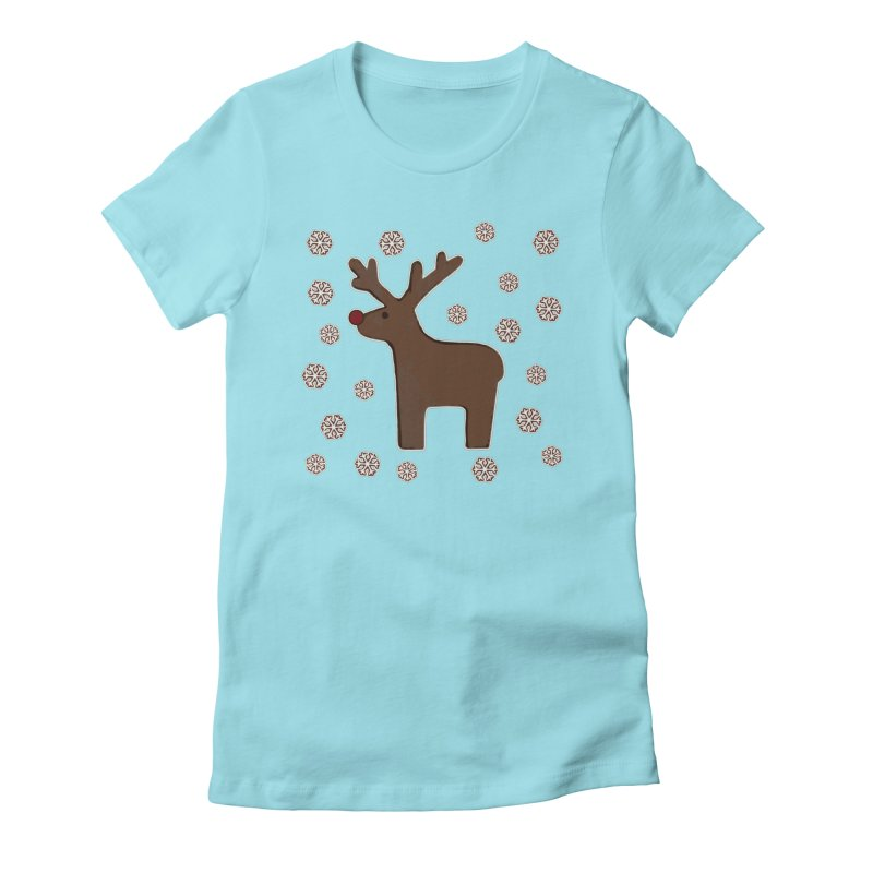 Christmas deer! Women's Fitted T-Shirt by gasponce