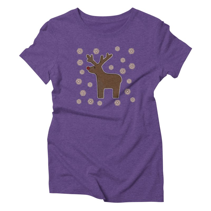 Christmas deer! Women's Triblend T-Shirt by gasponce