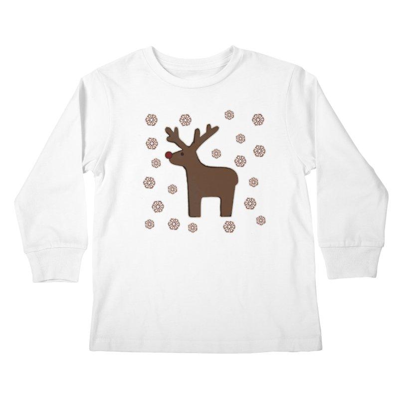 Christmas deer! Kids Longsleeve T-Shirt by gasponce