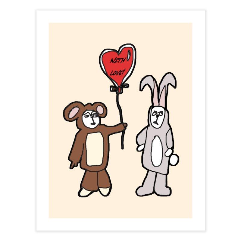 BEAR/ BUNNY LOVE! Home Fine Art Print by gasponce