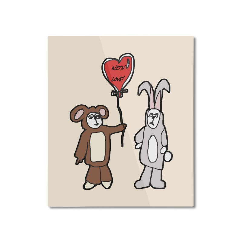BEAR/ BUNNY LOVE! Home Mounted Aluminum Print by gasponce