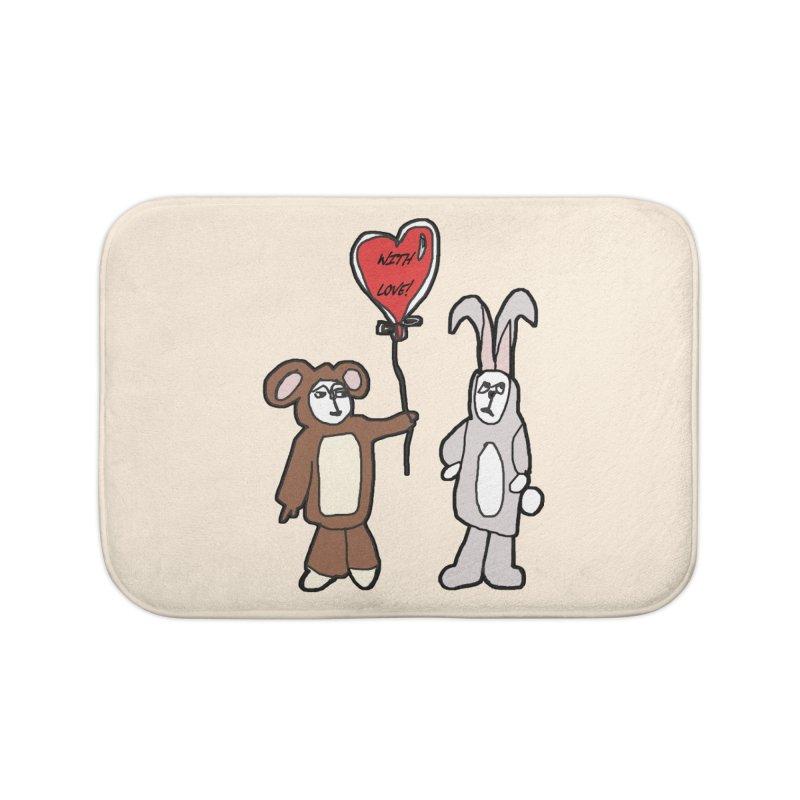 BEAR/ BUNNY LOVE! Home Bath Mat by gasponce