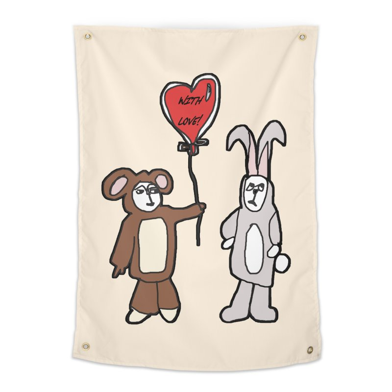 BEAR/ BUNNY LOVE! Home Tapestry by gasponce