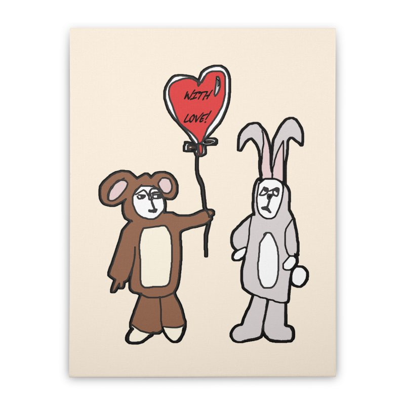 BEAR/ BUNNY LOVE! Home Stretched Canvas by gasponce