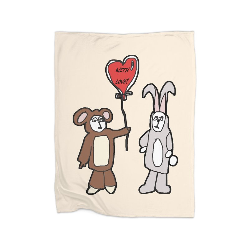 BEAR/ BUNNY LOVE! Home Blanket by gasponce