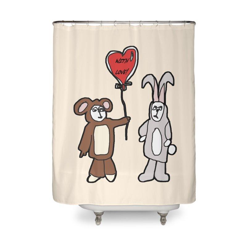 BEAR/ BUNNY LOVE! Home Shower Curtain by gasponce
