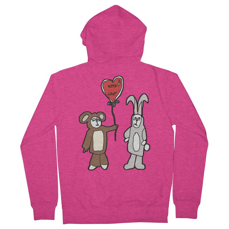 BEAR/ BUNNY LOVE! Women's Zip-Up Hoody by gasponce