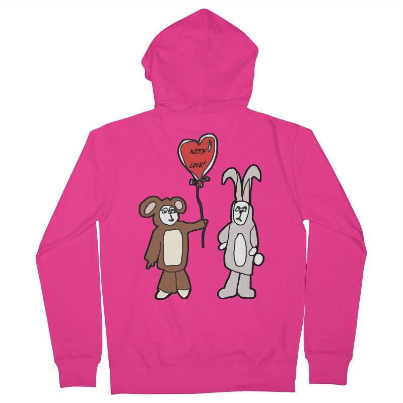 BEAR/ BUNNY LOVE! Men's Zip-Up Hoody by gasponce