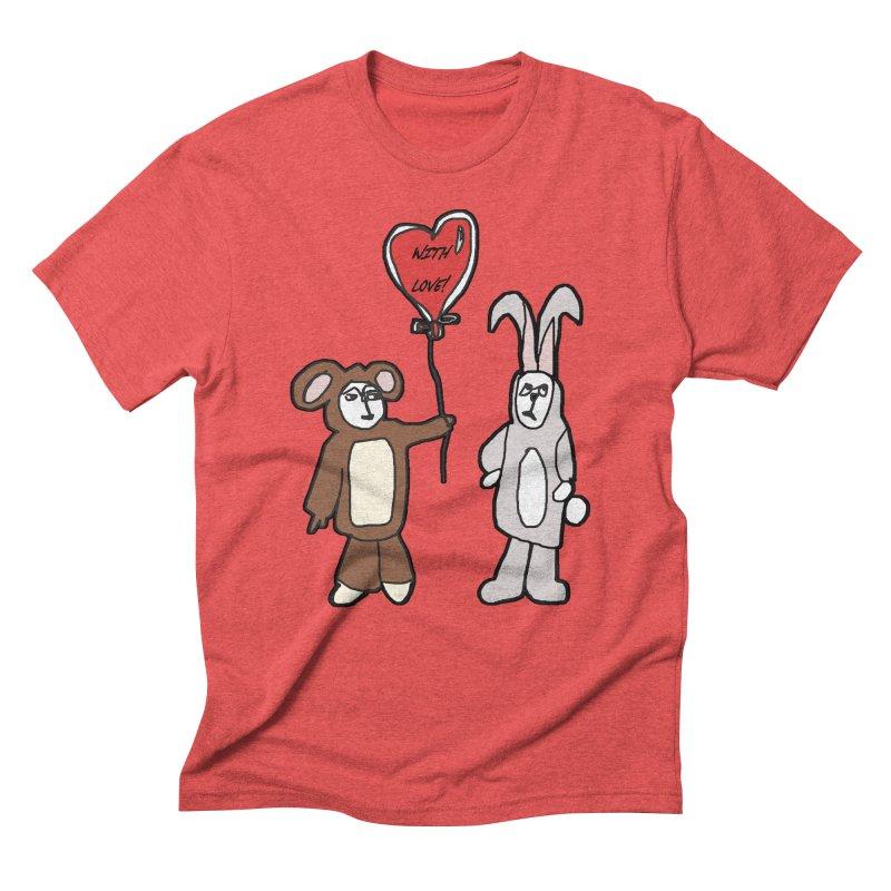 BEAR/ BUNNY LOVE! Men's Triblend T-Shirt by gasponce