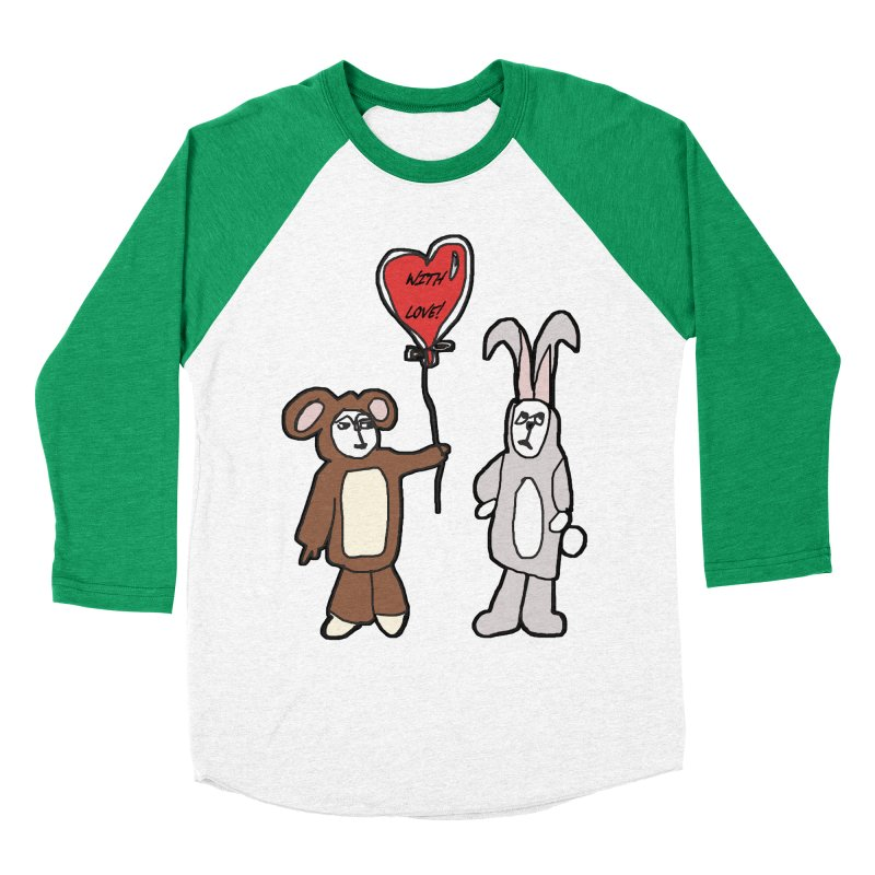 BEAR/ BUNNY LOVE! Men's Baseball Triblend T-Shirt by gasponce