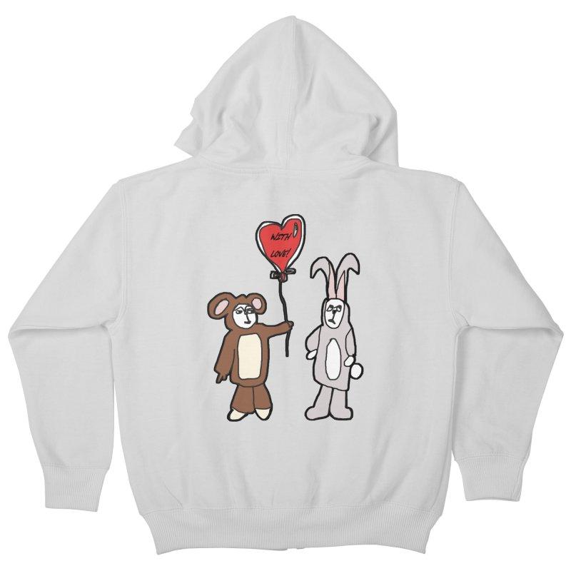 BEAR/ BUNNY LOVE! Kids Zip-Up Hoody by gasponce