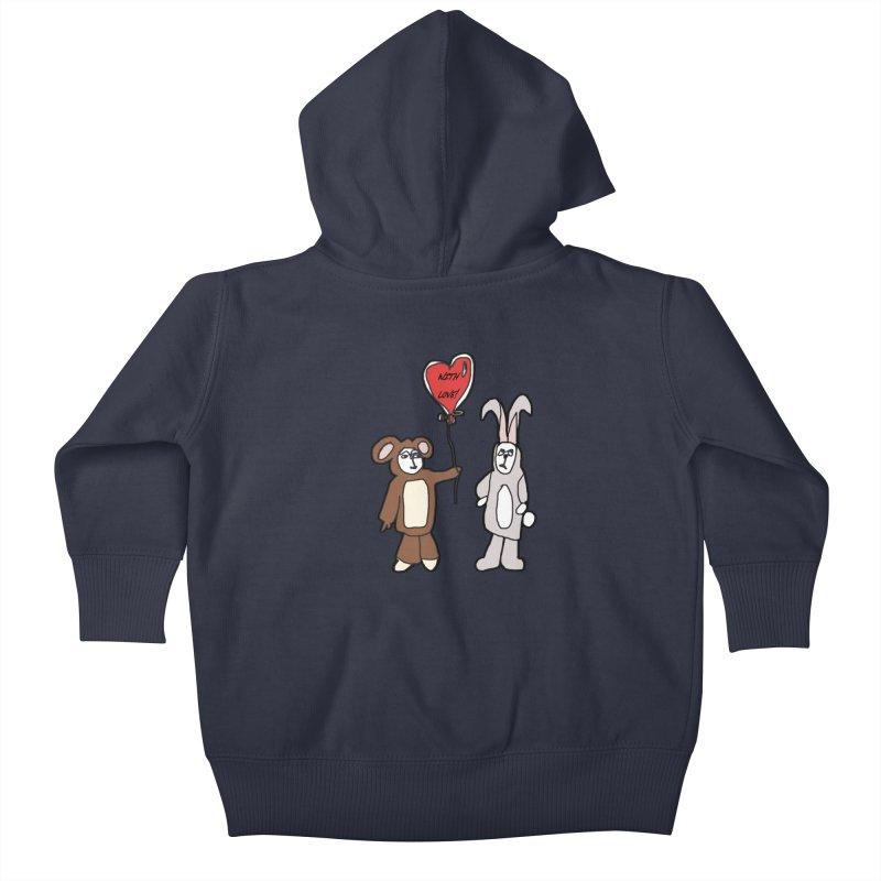 BEAR/ BUNNY LOVE! Kids Baby Zip-Up Hoody by gasponce