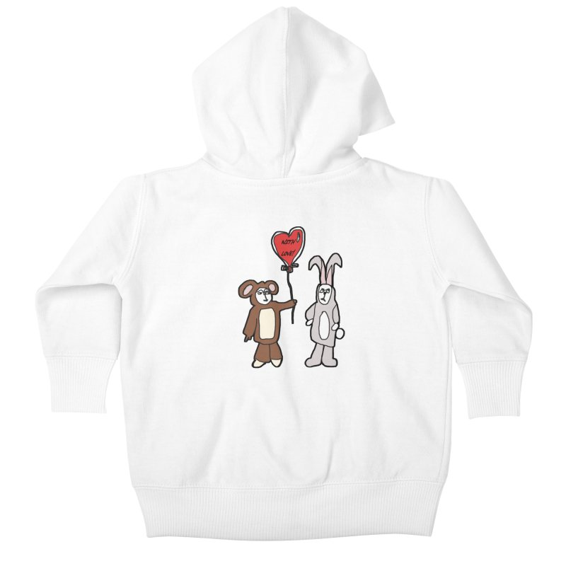 BEAR/ BUNNY LOVE! Kids Baby Zip-Up Hoody by gasponce