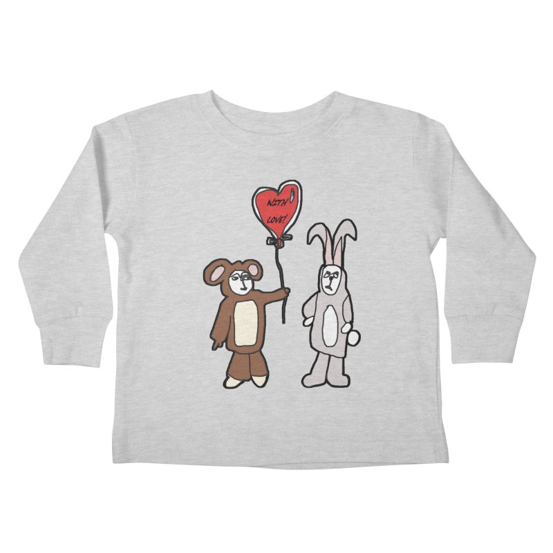 BEAR/ BUNNY LOVE! Kids Toddler Longsleeve T-Shirt by gasponce
