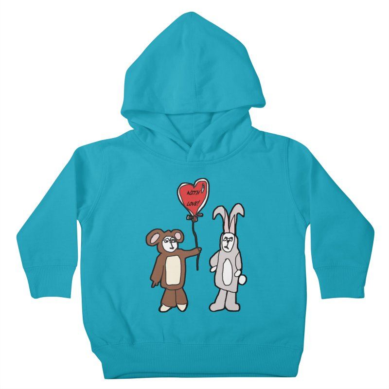 BEAR/ BUNNY LOVE! Kids Toddler Pullover Hoody by gasponce