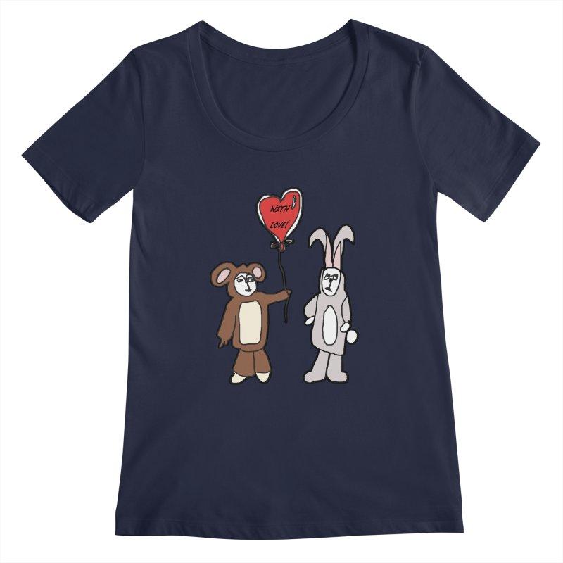 BEAR/ BUNNY LOVE! Women's Scoopneck by gasponce