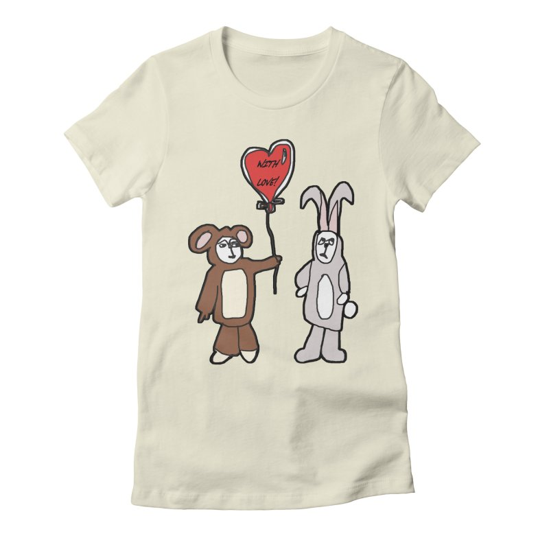 BEAR/ BUNNY LOVE! Women's Fitted T-Shirt by gasponce