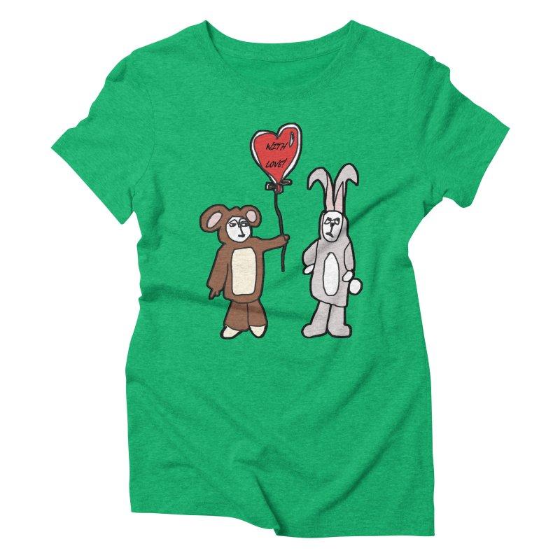 BEAR/ BUNNY LOVE! Women's Triblend T-Shirt by gasponce