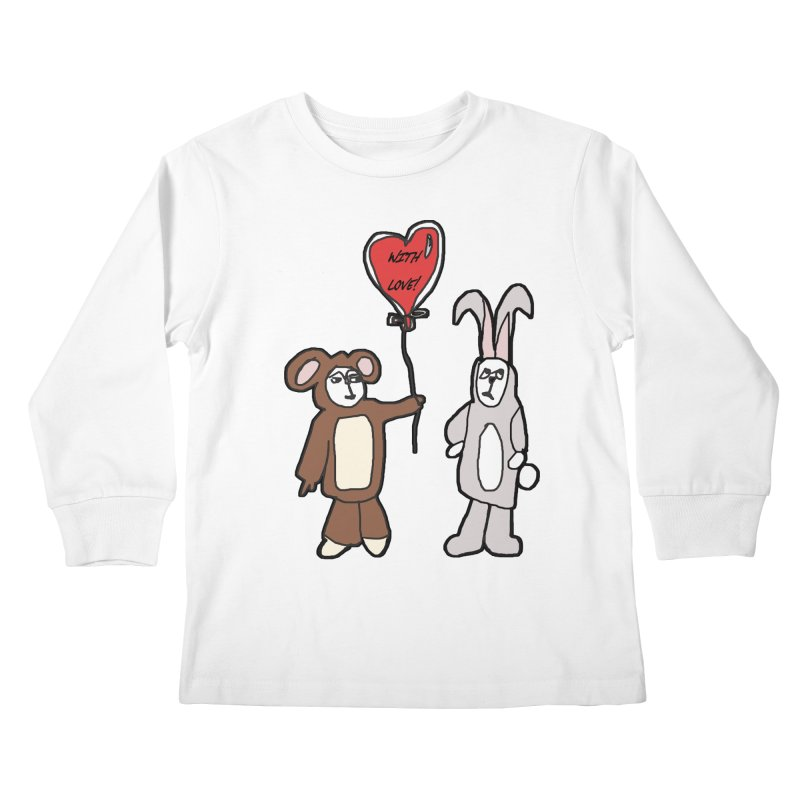 BEAR/ BUNNY LOVE! Kids Longsleeve T-Shirt by gasponce