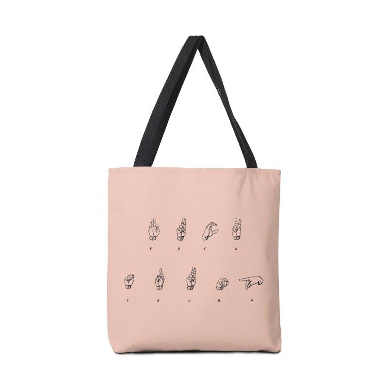 F**K TRUMP Accessories Bag by gasponce