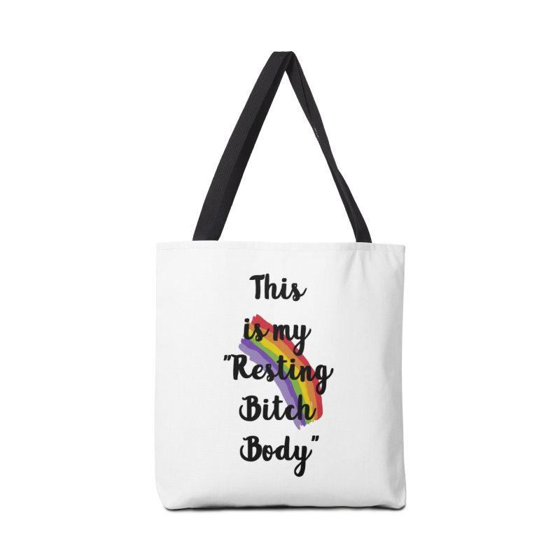 Resting Bitch Body Accessories Bag by gasponce