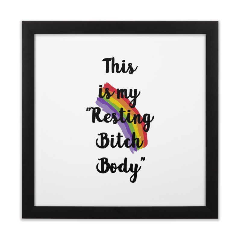 Resting Bitch Body Home Framed Fine Art Print by gasponce