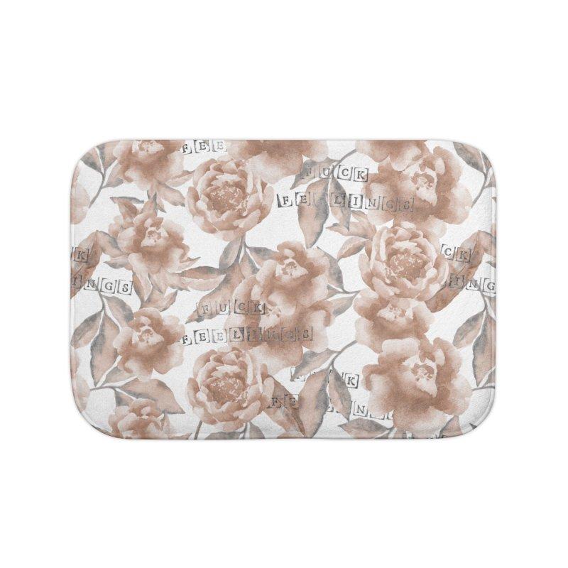 F*CK FEELINGS! Home Bath Mat by gasponce