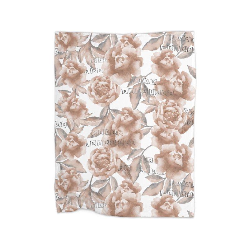F*CK FEELINGS! Home Fleece Blanket by gasponce