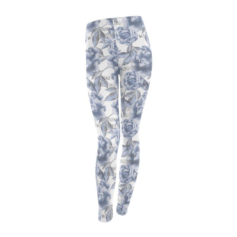 F*CK FEELINGS! BLUE in Women's Leggings Bottoms by gasponce
