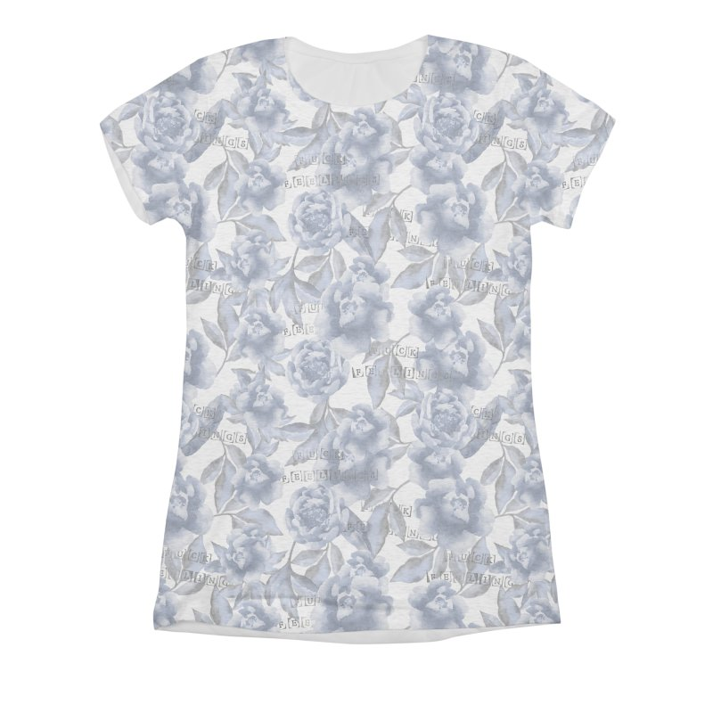 F*CK FEELINGS! BLUE Women's All-Over Print Triblend T-Shirt by gasponce