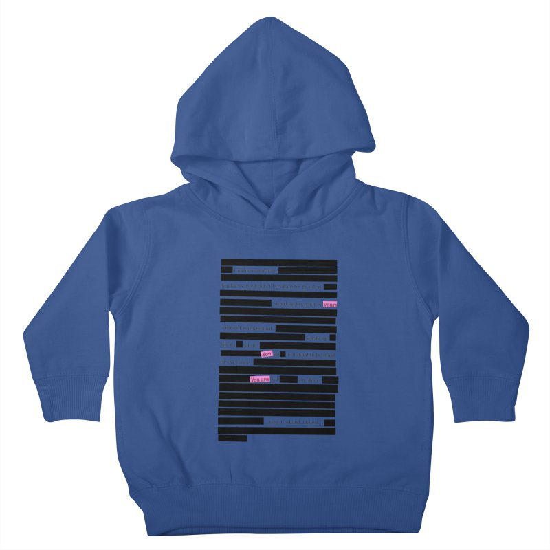 MANIFEST/ATION Kids Toddler Pullover Hoody by gasponce