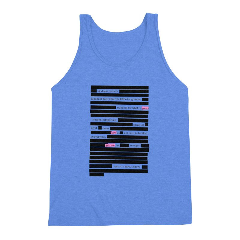 MANIFEST/ATION Men's Triblend Tank by gasponce