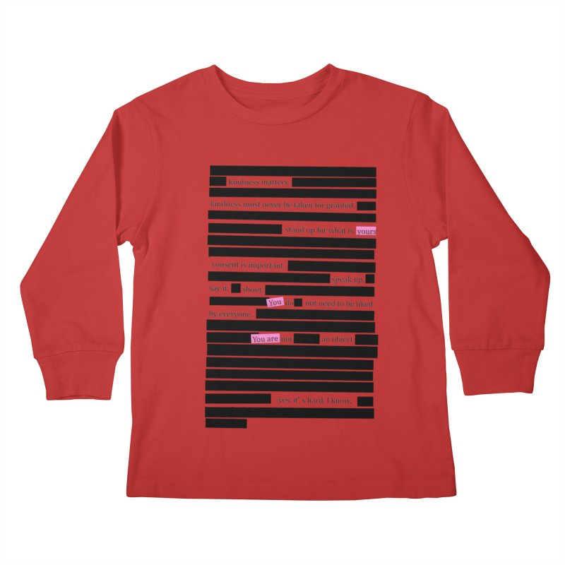 MANIFEST/ATION Kids Longsleeve T-Shirt by gasponce