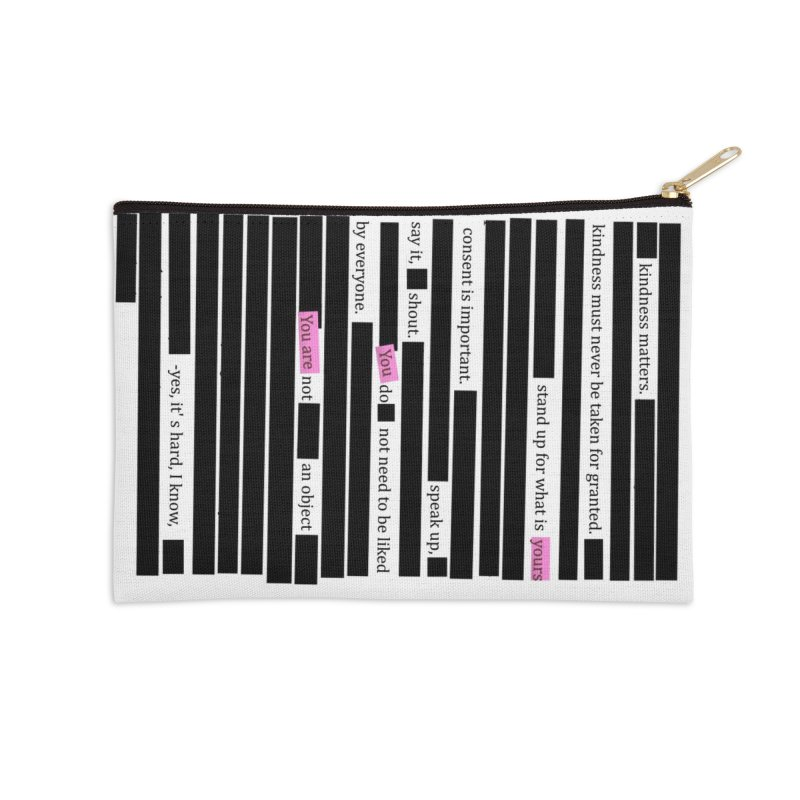 MANIFEST/ATION Accessories Zip Pouch by gasponce