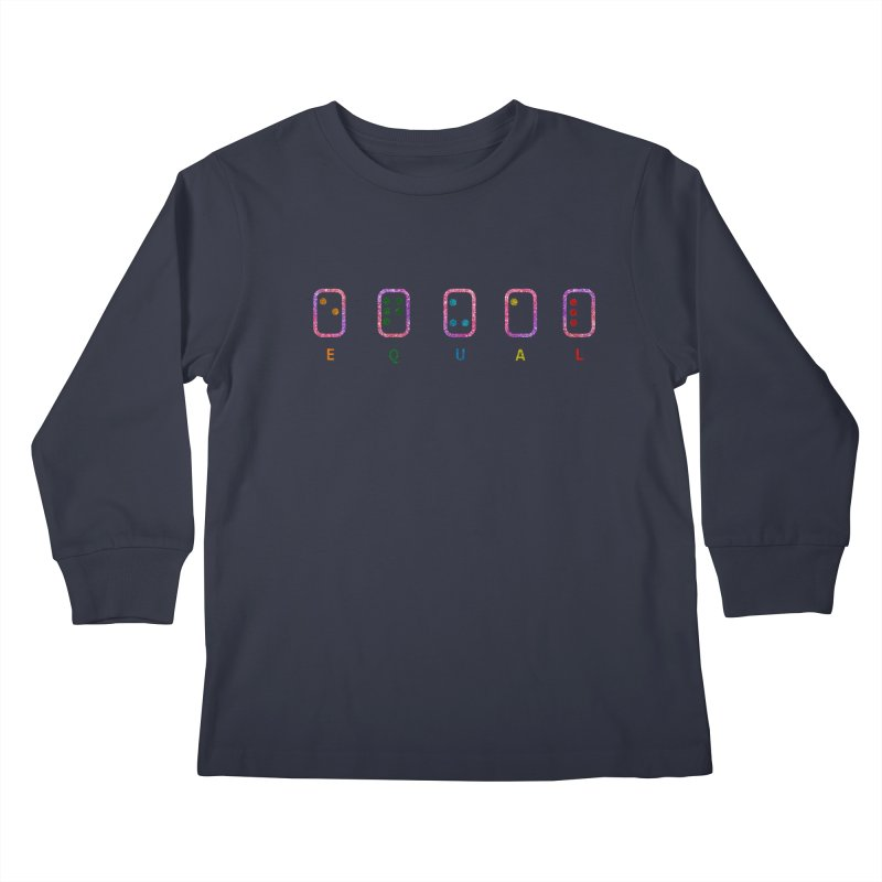 EQUAL (GLITTER VERSION) Kids Longsleeve T-Shirt by gasponce