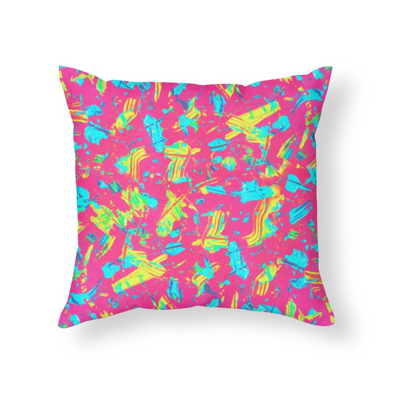 NEON PAINT PINK Home Throw Pillow by gasponce