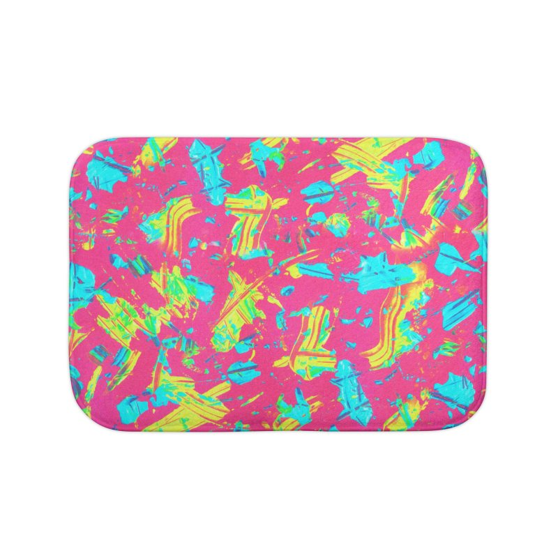 NEON PAINT PINK Home Bath Mat by gasponce