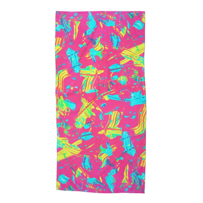 NEON PAINT PINK Accessories Beach Towel by gasponce