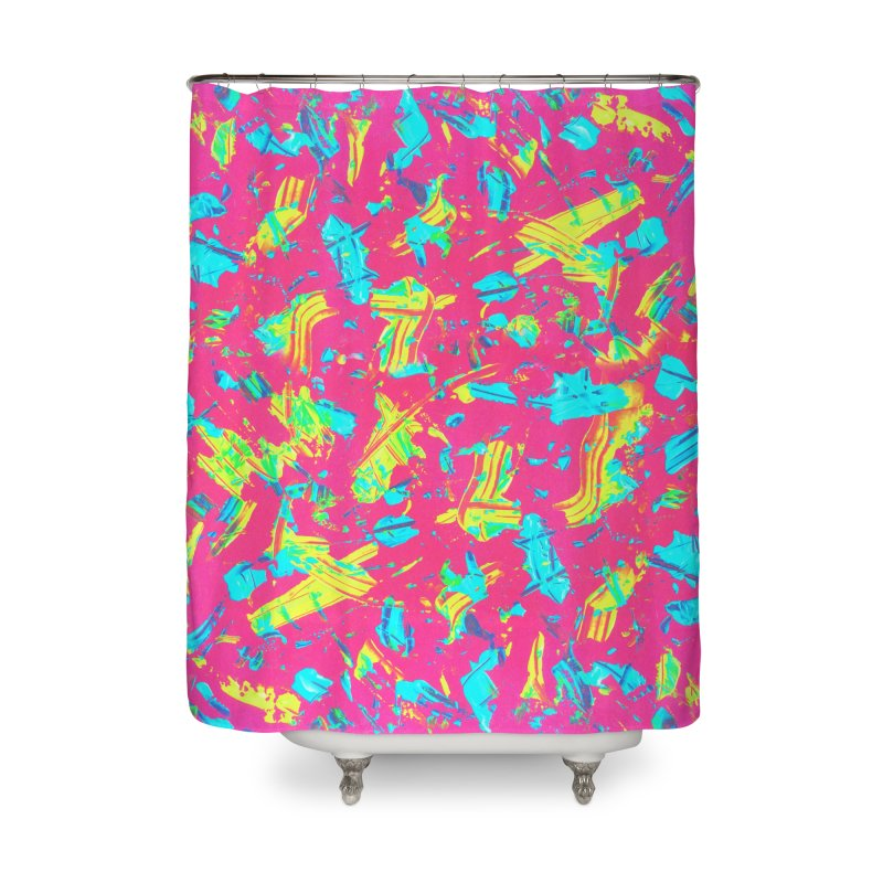 NEON PAINT PINK Home Shower Curtain by gasponce