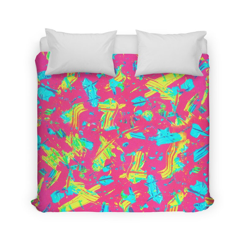 NEON PAINT PINK Home Duvet by gasponce