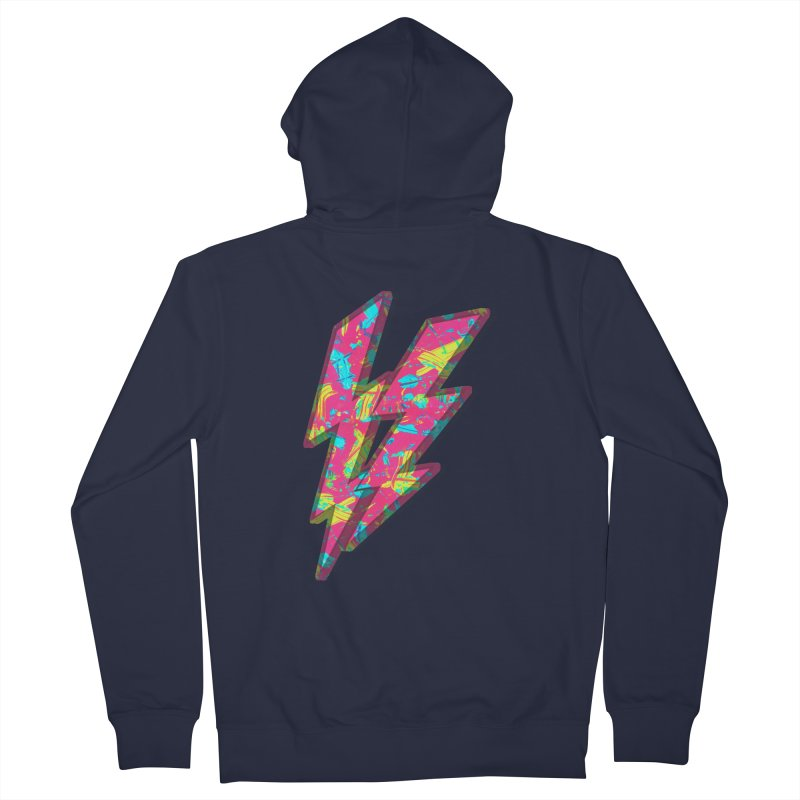 NEON PAINT PINK Women's French Terry Zip-Up Hoody by gasponce
