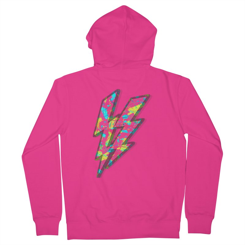 NEON PAINT PINK Men's Zip-Up Hoody by gasponce