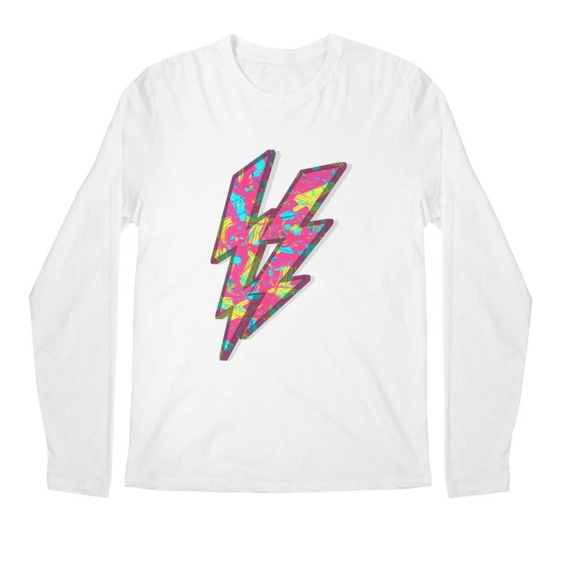 NEON PAINT PINK Men's Longsleeve T-Shirt by gasponce
