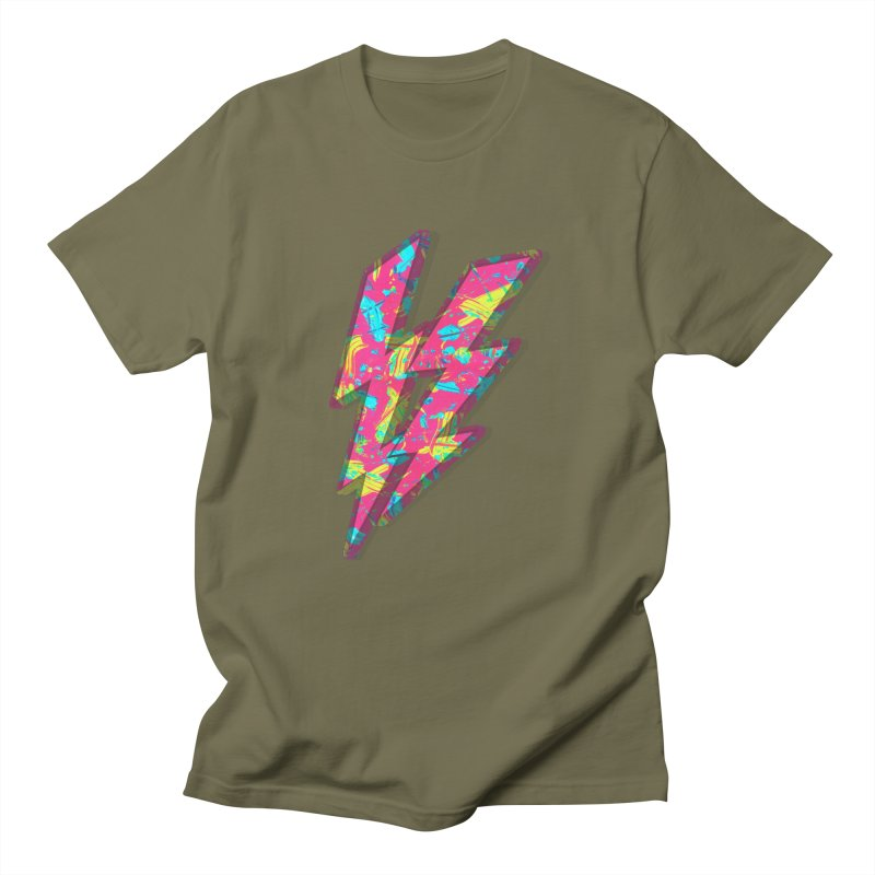 NEON PAINT PINK Men's Regular T-Shirt by gasponce